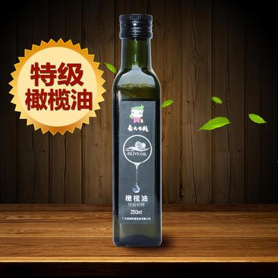 广元七绝琉璃農场特级初榨橄榄油250ml高档食用油